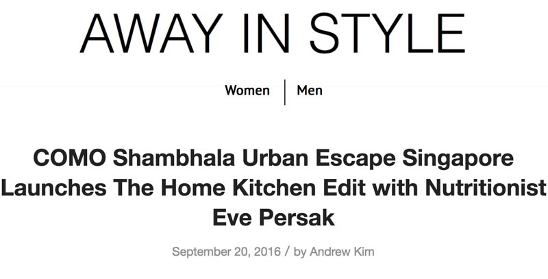 Eve Persak Press - Away In Style September 2016