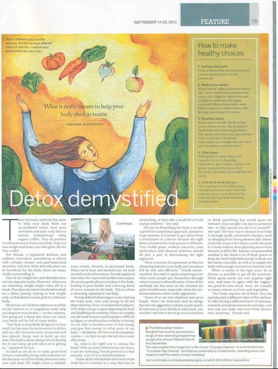 Eve Persak Press - Bangkok Post September 2013