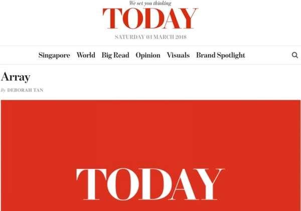 Eve Persak Press - Singapore Today October 2016