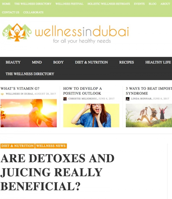 Eve Persak Press - Wellness in Dubai August 2015