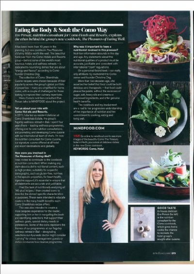 Eve Persak Press - MindFood Nov 2016 p2
