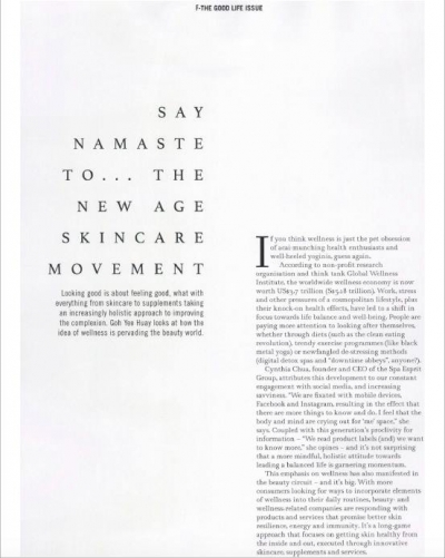 Female May 2017 Say Namaste - Eve Persak Press