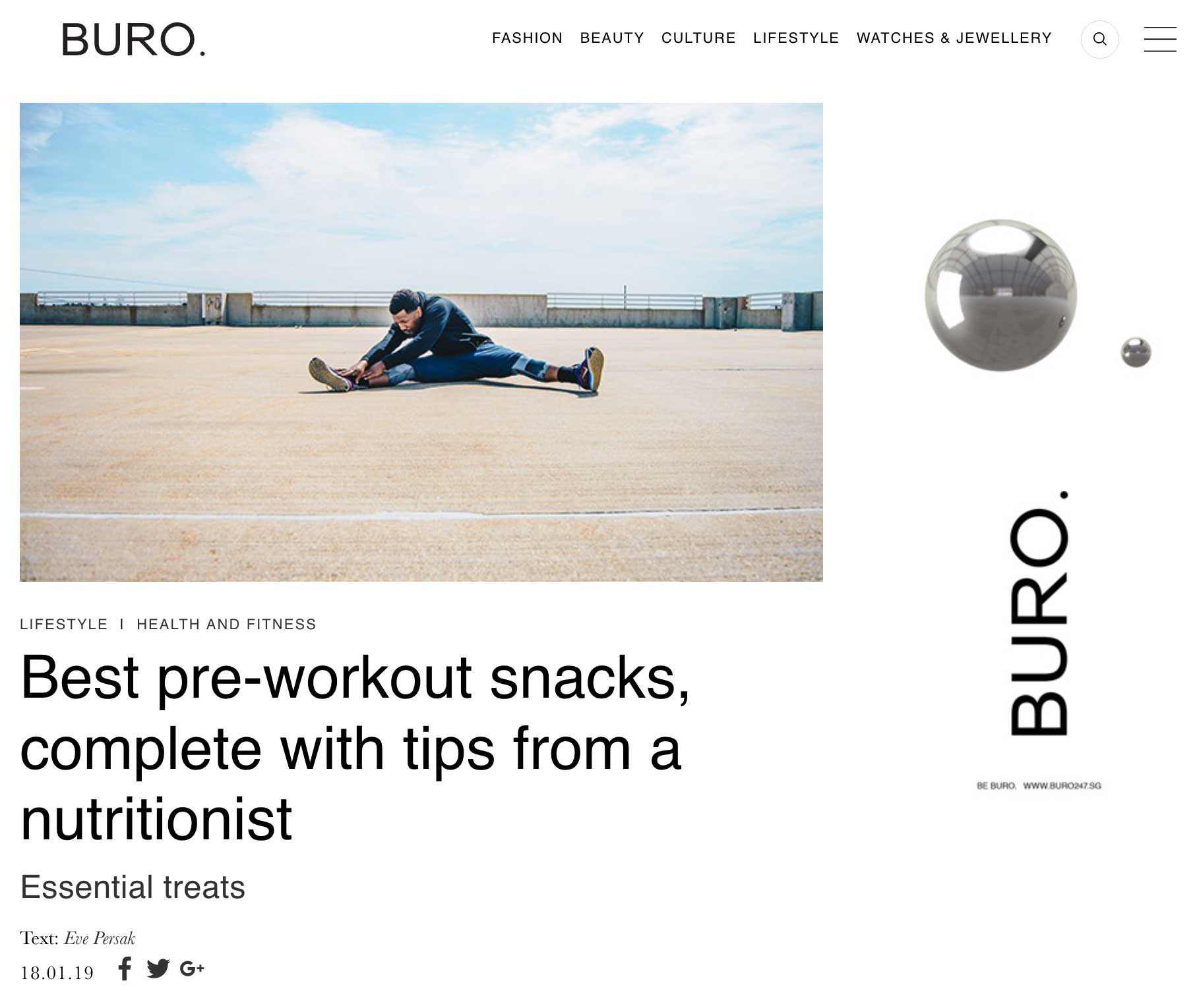 Buro January 2019 - Eve Persak Press