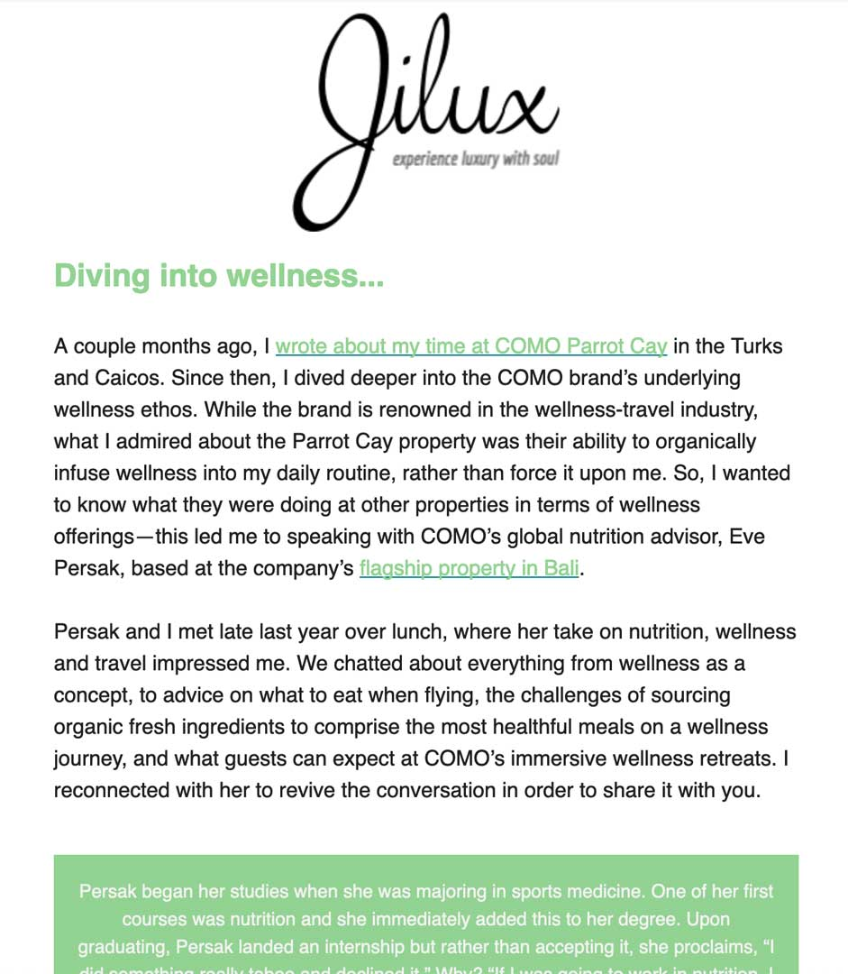 Jilux Newsletter April 2019 - Eve Persak Press